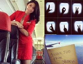 """""""Tình yêu từ 38.000 feet"""" của nữ tiếp viên QZ8501"""