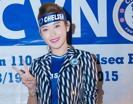 Á hậu Huyền My rạng rỡ dự buổi họp cùng CĐV Chelsea VN