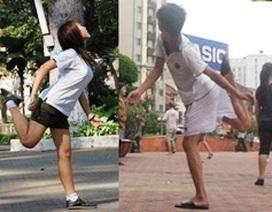 """""""Khiêu vũ"""" cùng trái cầu"""