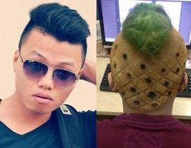Đăng ảnh câu like, chàng trai phải cắt tóc quả dứa