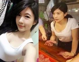 Thiếu nữ Đài Loan xinh đẹp bán thịt lợn gây sốt mạng