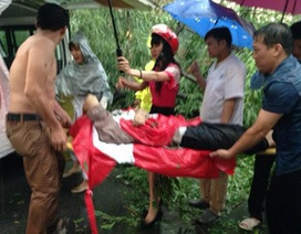 Giải cứu người đàn ông bị cây đè trong mưa giông lớn ở Hà Nội