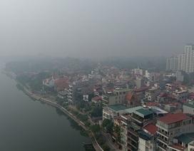 Màn sương mù che phủ Thủ đô nhìn từ flycam