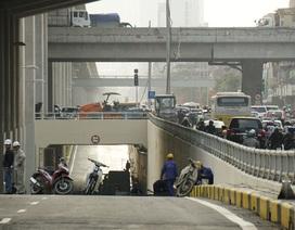 Hai hầm chui chịu động đất cấp 7 trước giờ thông xe