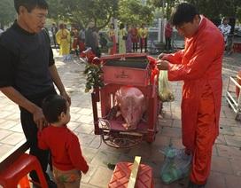Hội làng Ném Thượng: Không còn cảnh chém lợn giữa sân đình