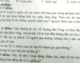 Hà Nam: Phụ huynh bức xúc vì đề thi cẩu thả, thiếu logic