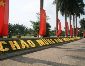 Đường phố rợp cờ hoa, khẩu hiệu chào mừng ngày bầu cử