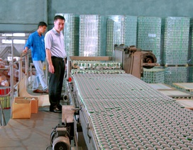 Cận cảnh chuỗi dây chuyền chiết lon và đóng hộp tự động công suất 50.000 lon/giờ