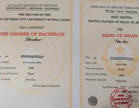 Bằng tốt nghiệp bị in lỗi, sinh viên hoang mang