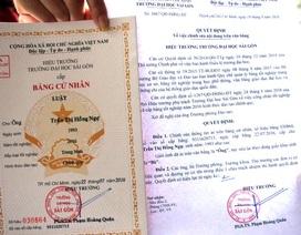 """Trường ĐH Sài Gòn sẽ cấp lại bằng cho nữ sinh viên bị ghi là """"ông"""""""