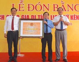 Kênh Nhà Lê đón nhận bằng Di tích Quốc gia