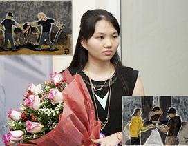 Nữ sinh 17 tuổi mở triển lãm tranh chống bạo hành phụ nữ