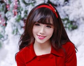 """Ảnh Noel xinh """"lung linh"""" của hotgirl Ngân Búng trước khi lên xe hoa"""