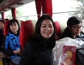 Tặng vé xe miễn phí cho 1.600 nữ công nhân về quê ăn Tết