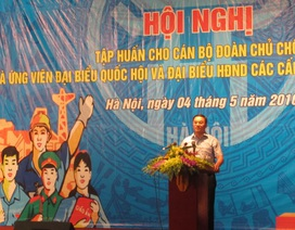 700 cán bộ Đoàn là ứng viên đại biểu Quốc hội tham gia tập huấn