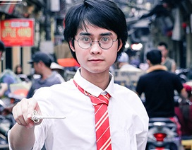 """Nam sinh Nghệ An gây """"sốt"""" vì quá giống Harry Potter"""