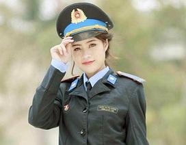 Nữ sinh xinh đẹp lọt top 10 cuộc thi Hoa khôi Tư pháp hình sự
