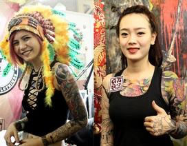 """Những """"bóng hồng"""" cá tính tại Đại hội xăm hình Hà Nội"""