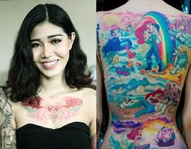 Cô gái Việt sở hữu loạt hình xăm nhân vật phim hoạt hình Disney