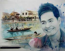 9x vẽ tranh vì ngưỡng mộ nghĩa cử của MC Phan Anh