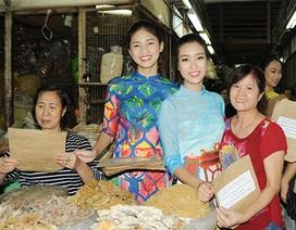 Hoa hậu Việt Nam vận động sử dụng túi giấy để bảo vệ môi trường