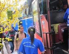 Miễn vé xe đưa 230 sinh viên Bình Định ở Sài Gòn về quê ăn Tết