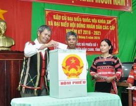 Bình Định: Nhiều địa phương bầu cử đạt tỷ lệ 100%