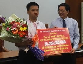 Bình Định: Thưởng hàng trăm triệu đồng cho học sinh đoạt huy chương Bạc IMO