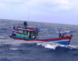 Tàu cá hỏng máy, 5 ngư dân lênh đênh trên biển
