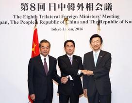 """Ngoại trưởng Trung, Nhật, Hàn nhóm họp để thảo luận một loạt chủ đề """"nóng"""""""