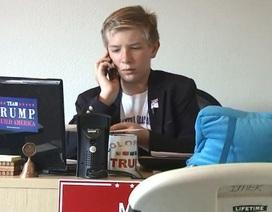 Cậu bé 12 tuổi tham gia điều hành văn phòng tranh cử của tỷ phú Trump
