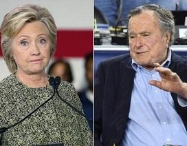 """Bush """"cha"""" sẽ bỏ phiếu cho bà Clinton"""