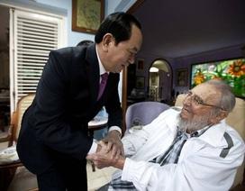 Hình ảnh lãnh tụ Fidel Castro qua các cuộc gặp với lãnh đạo thế giới