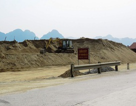 """""""Tuýt còi"""" nhiều mỏ khai thác cát, sạn sai phạm"""