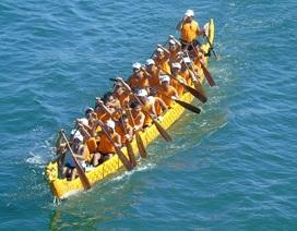 Đua thuyền Quảng Bình tranh tài với các đội đến từ Lào, Thái Lan
