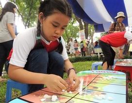Học trò mê say khám phá trò chơi dân gian