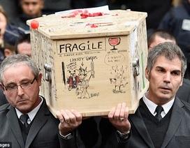Tranh biếm họa phủ kín quan tài nạn nhân vụ khủng bố Charlie Hebdo