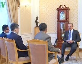 Ngoại trưởng Lavrov: Quan hệ Nga- Việt giúp củng cố an ninh khu vực