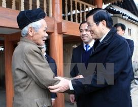 Chủ tịch nước khảo sát xây dựng nông thôn mới tại Tuyên Quang
