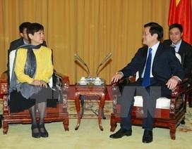 Chủ tịch nước tiếp Đoàn Hội hữu nghị Đối ngoại nhân dân Trung Quốc