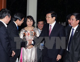 Chủ tịch nước đến thăm Đại sứ quán Việt Nam ở Indonesia