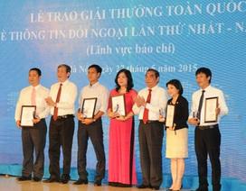 Lần đầu tiên trao giải thưởng toàn quốc về thông tin đối ngoại