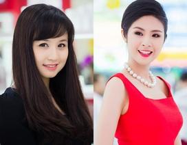 Hoa hậu Ngọc Hân, Vi Cầm rực rỡ bên hoa đào