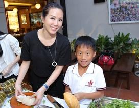 Hoa hậu Thu Hoài truyền cảm hứng làm bánh mì từ thiện