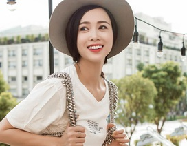 Vũ Ngọc Anh đẹp lôi cuốn với thời trang đường phố