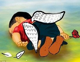 """Hàng ngàn bức vẽ cảm động tưởng nhớ """"em bé Syria"""""""