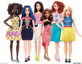 "Lần đầu tiên xuất hiện búp bê Barbie… ""thấp béo"""
