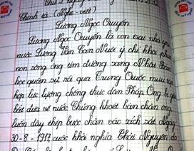 Chiêm ngưỡng nét chữ đều như đánh máy của học sinh dân tộc thiểu số