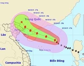 Bão số 4 có thể mạnh thêm, đêm mai nhiều tỉnh Bắc Bộ mưa to