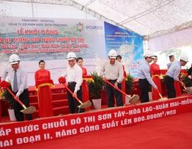Khởi công xây dựng đường ống dẫn nước sạch sông Đà 2